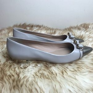 5d1033bebf6 Tory Burch Shoes - Tory Burch Belleville Bow Pointed Flat Size 8 1 2